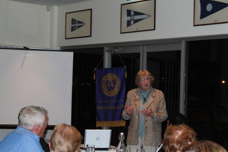 Jenny Van Driel - talking about her time as a former Soroptimist President at Joondalup