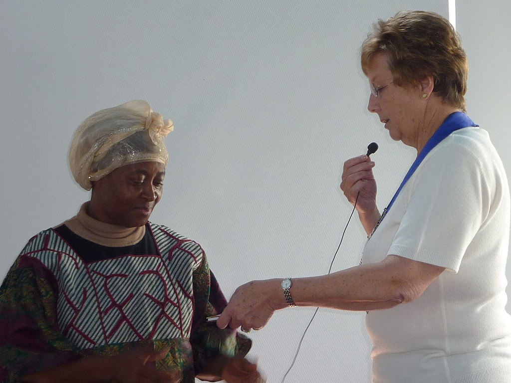 Region President Berenice Ritchie with guest speaker Kadi from Sierra Leone