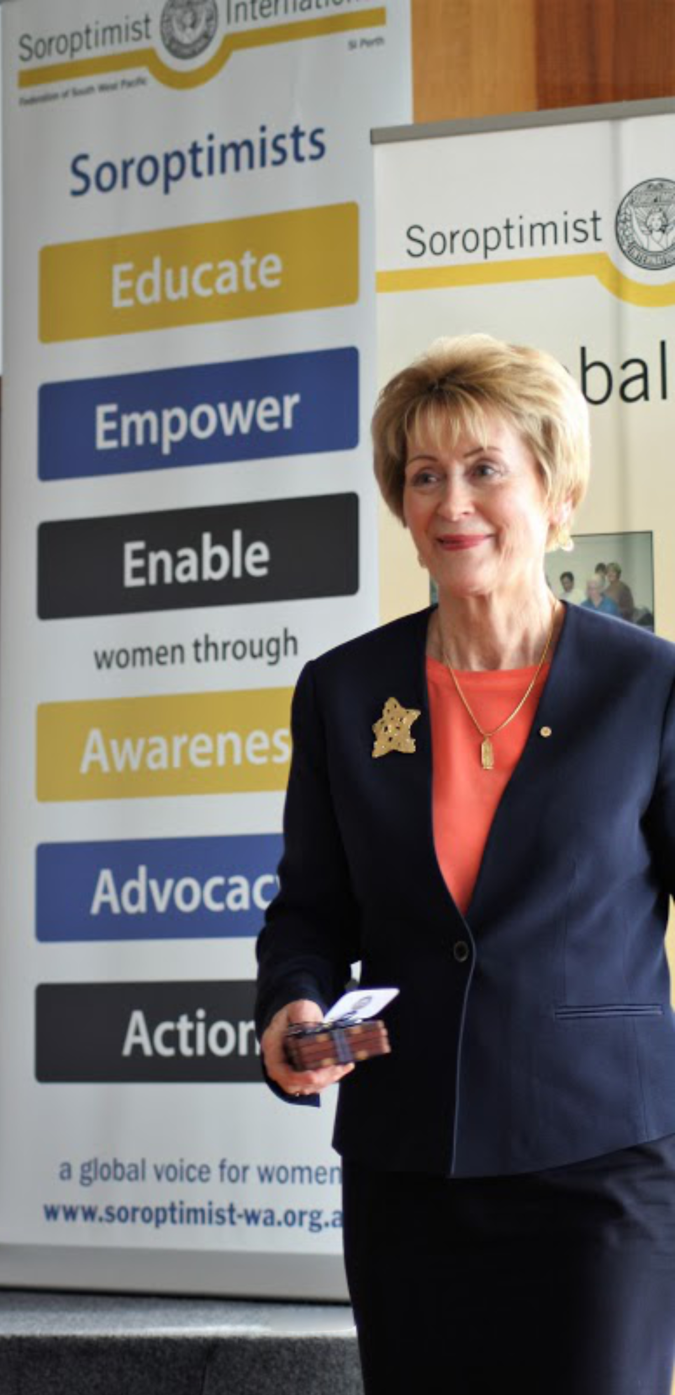 The Governor, Honourable Kerry Sanderson AC