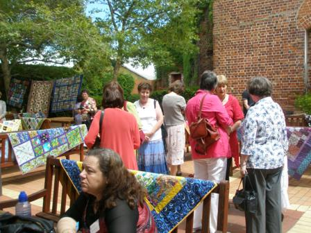 Viewing the quilts