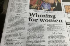 SI Fremantle - Win Stroud celebarates