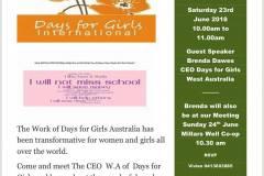 SI Karratha - Days for Girls
