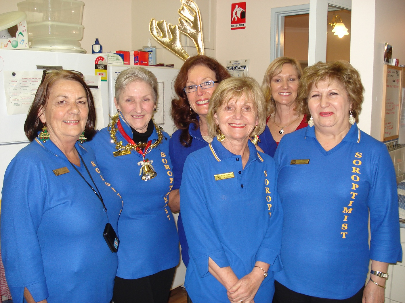 Soroptimists in their Christmas finery