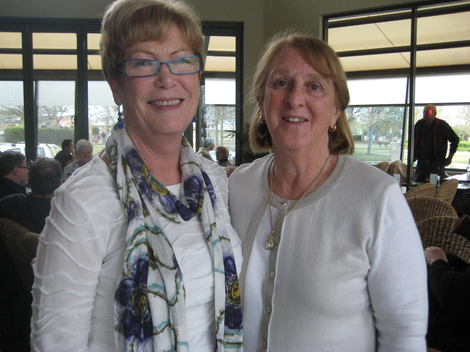 Foundation Members  -  Pam Moore (left) and Foundation Vice President Joan Motherwell
