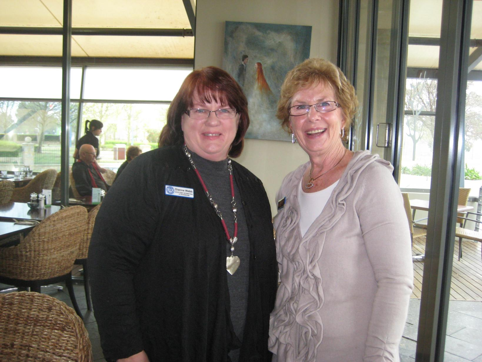 SIR Membership Officer Dianne Webb with SIR Publicity Officer, Jenny Norris