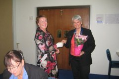 SI Rockingham - Immediate Past President Lucy Cotton receiving her badge - June 2011