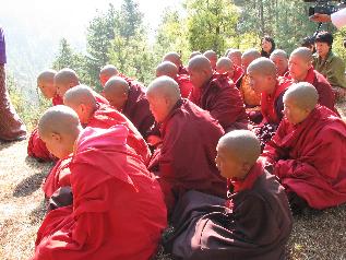 Cambridge beanies Bhutan nuns